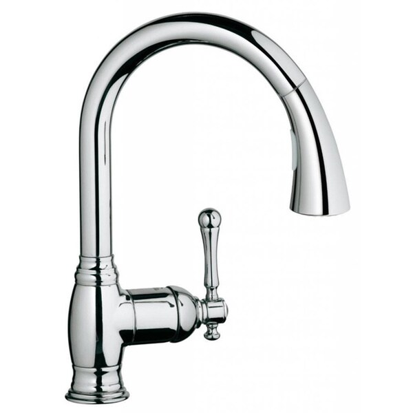 Gooseneck Kitchen Faucet With Pull Out Spray Grohe Starlight Chrome Bridgeford OHM Sink Pull-out Spray ...