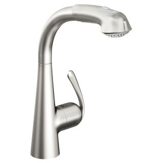 Grohe Stainless Steel Ladylux OHM Sink Pull-out Spray Kitchen Faucet