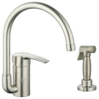 Grohe Infiniti Brushed Nickel Eurostyle Metal Spray Kitchen Faucet