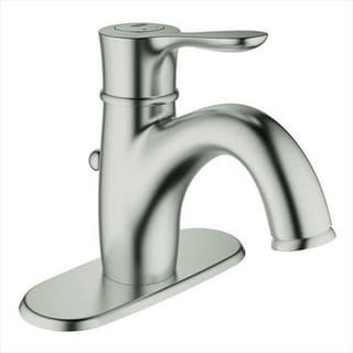 Grohe Infiniti Brushed Nickel Parkfield OHM 4-inch Centerset Bathroom Faucet
