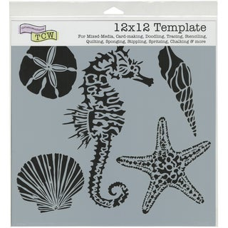 "Crafter's Workshop Template 12""X12""-Sea Creatures"