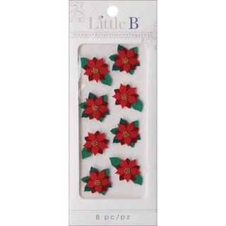 Little B Mini Stickers-Poinsettia