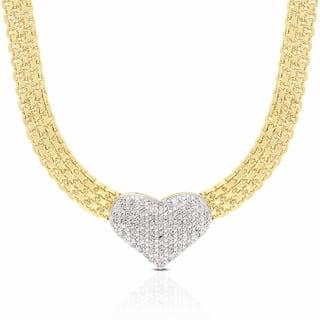 Finesque Gold Overlay Diamond 1/2ct TDW Diamond Heart Necklace https://ak1.ostkcdn.com/images/products/9487167/P16668406.jpg?impolicy=medium