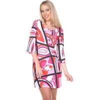 White Mark Women's 'Genevieve' Bell-sleeve Mini Dress