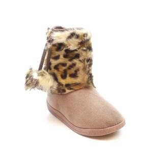 Blue Children's 'I-Zooster' Faux Fur Boots