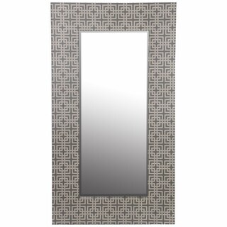 Large Grey Wood Framed Mirror