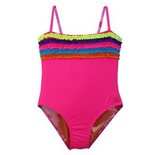 Azul Swimwear Girls 'Chasing Rainbows' One-piece Swimsuit
