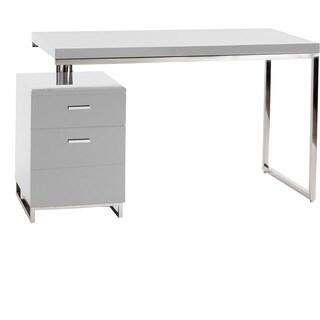 Aurelle Home Contemporary Walnut Writing Desk