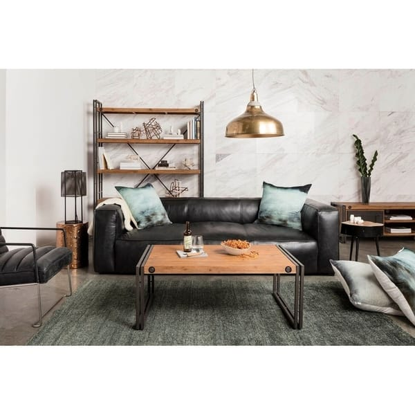 Surprising Shop Aurelle Home Rustic Vintage Black Top Grain Leather Caraccident5 Cool Chair Designs And Ideas Caraccident5Info