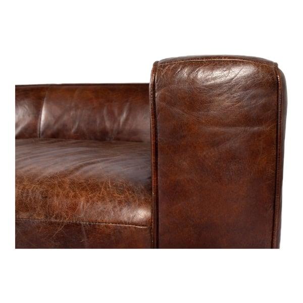 Brown Top Grain Leather Sofa