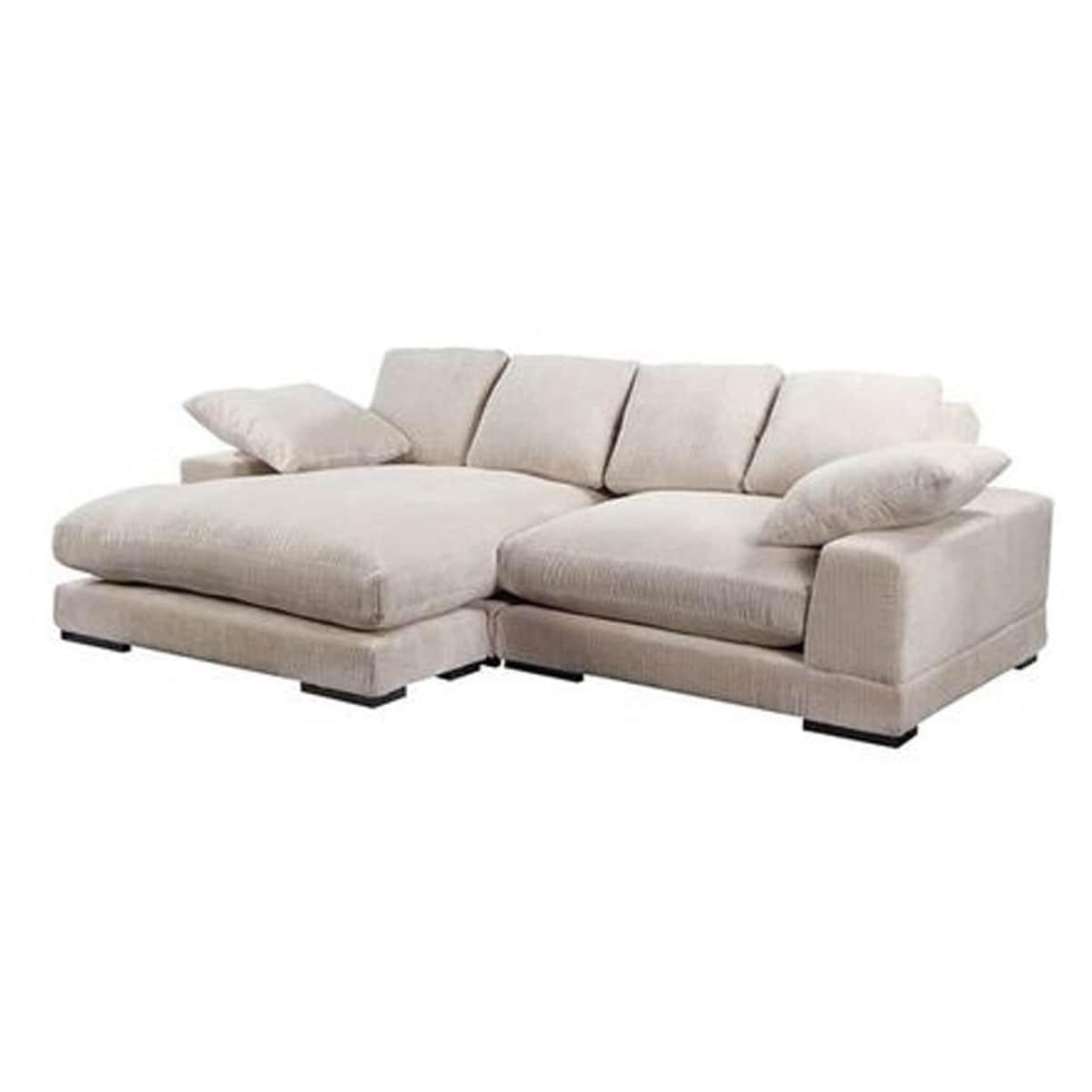 Astounding Aurelle Home Reversible Deep Seat Contemporary Sectional Sofa Unemploymentrelief Wooden Chair Designs For Living Room Unemploymentrelieforg