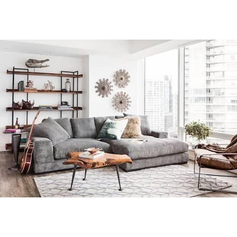 Aurelle Home Reversible Deep Seat Contemporary Sectional Sofa