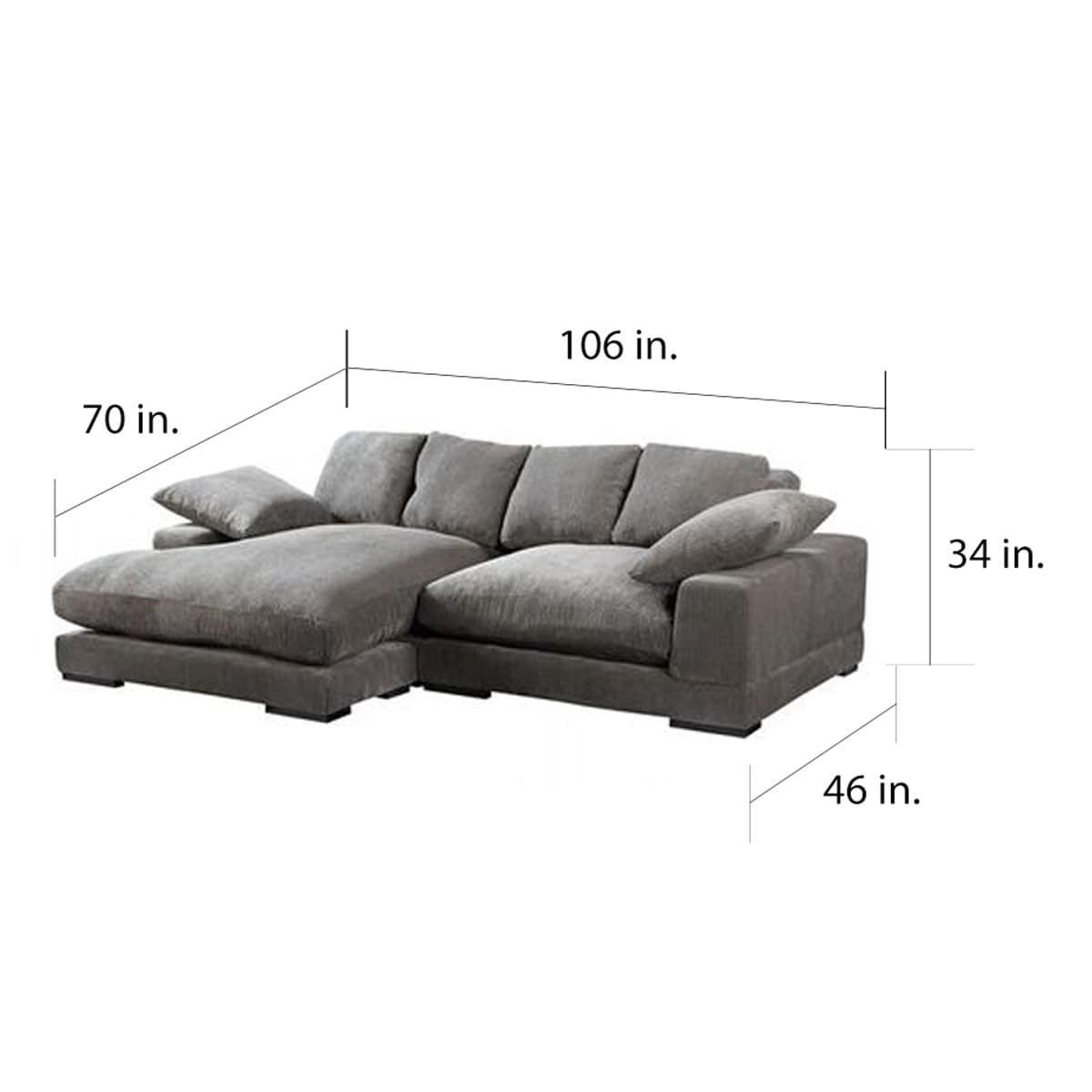 Peachy Aurelle Home Reversible Deep Seat Contemporary Sectional Sofa Theyellowbook Wood Chair Design Ideas Theyellowbookinfo