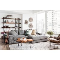 Aurelle Home Polk Grey Sectional Sofa