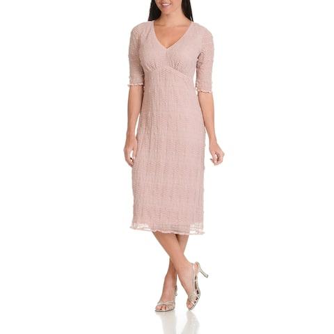 Rabbit Rabbit Rabbit Designs Women's Stretch Lace Empire-waist Dress
