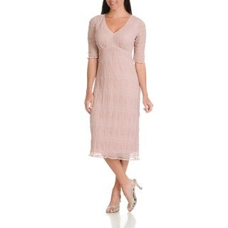 Rabbit Rabbit Rabbit Designs Women's Stretch Lace Empire-waist Dress