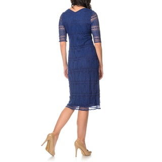 Rabbit Rabbit Rabbit Designs Women's Stretch Lace Dress
