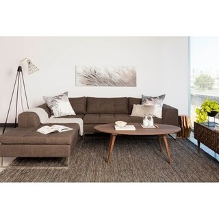 Aurelle Home Kapri Charcoal Sectional Sofa