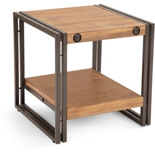 Aurelle Home Industrial Rustic Side Table