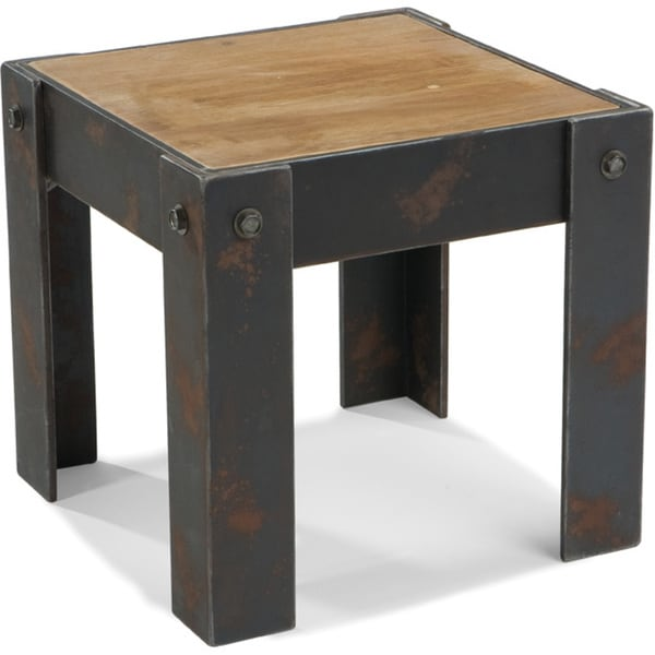 Aurelle Home Rustic Industrial Side Table
