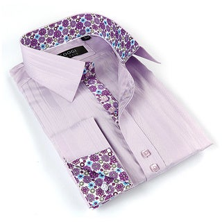Coogi Luxe Men's Purple/ Floral Button Down Dress Shirt (2 options available)