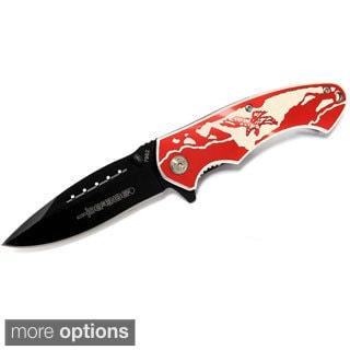 """8"""" Defender Folding Spring Assisted Knife Eagle or Wolf"""