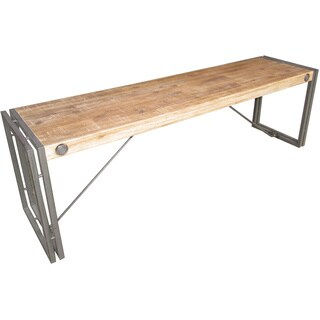 Aurelle Home Industrial Rustic Farmhouse Solid Dining Bench