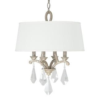Capital Lighting Harlow Collection 4-light Silver Quartz Pendant