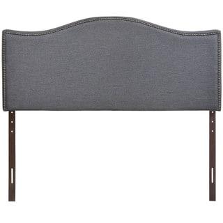 Curl Queen Nailhead Upholstered Headboard