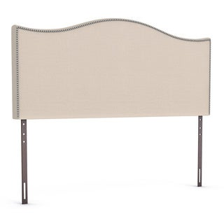 Porch & Den Silver Lake Sargent Queen-size Nailhead Upholstered Headboard