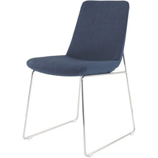Aurelle Home Charlotte Italian Blue Modern Dining Chairs (Set of 2)
