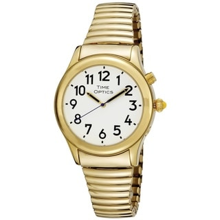 Men's Goldtone Stainless Steel White Dial Watch