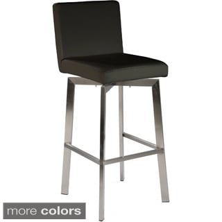 Aurelle Home Black Swivel Bar Stool