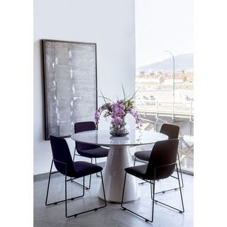 Aurelle Home Hausen 47-inch Round Base Dining Table|https://ak1.ostkcdn.com/images/products/9487670/P16668793.jpg?impolicy=medium