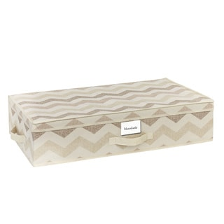 The Macbeth Collection Textured Chevron Printed Under-the-Bed Storage Box