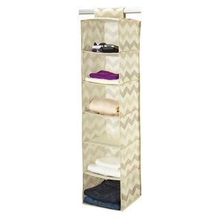 The Macbeth Collection Textured Chevron Printed 6-shelf Organizer