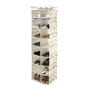 The Macbeth Collection Textured Chevron Printed 16 Pocket Shoe Organizer