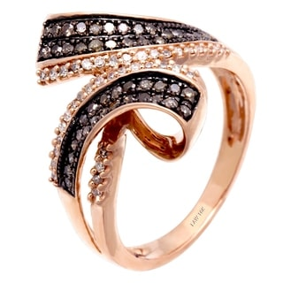 10k Rose Gold 3/5ct TDW Champagne and Brown Diamond Ring (H-I, SI1-SI2)