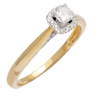 10k Yellow Gold 1/2ct TDW Diamond Engagement Ring (H-I, SI1-SI2)