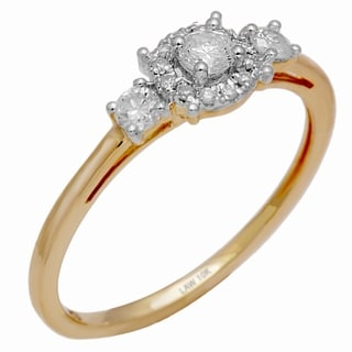 Nili 10k Yellow Gold 1/2ct TDW Diamond Engagement Ring (H-I, SI1-SI2)