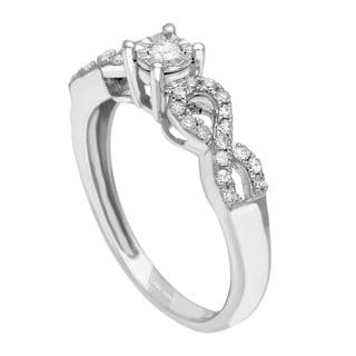 10k White Gold 1/3ct TDW Diamond Engagement Ring
