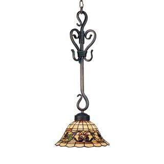 Elk Lighting Tiffany-style Buckingham 1-light Vintage Antique Pendant