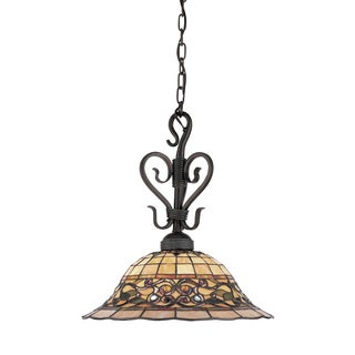 Elk Lighting Tiffany-style Buckingham 1-light Antique Finish Pendant