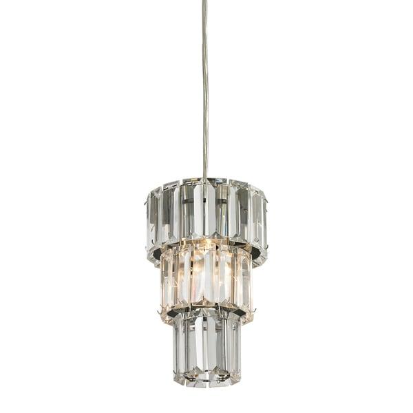 Elk Lighting Cynthia 1-Light Polished Chrome 5-inch Mini Pendant - Silver