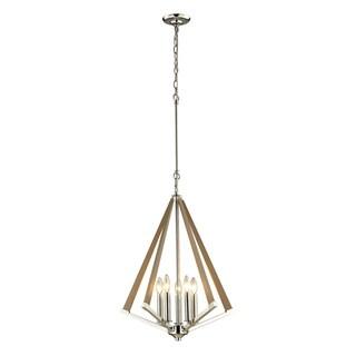 Elk Lighting Madera 5-light Polished Nickel Pendant