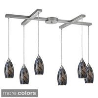Galaxy 6-light Satin NIckel 33-inch Pendant