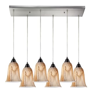 Granite 6-Light Satin Nickel Pendant