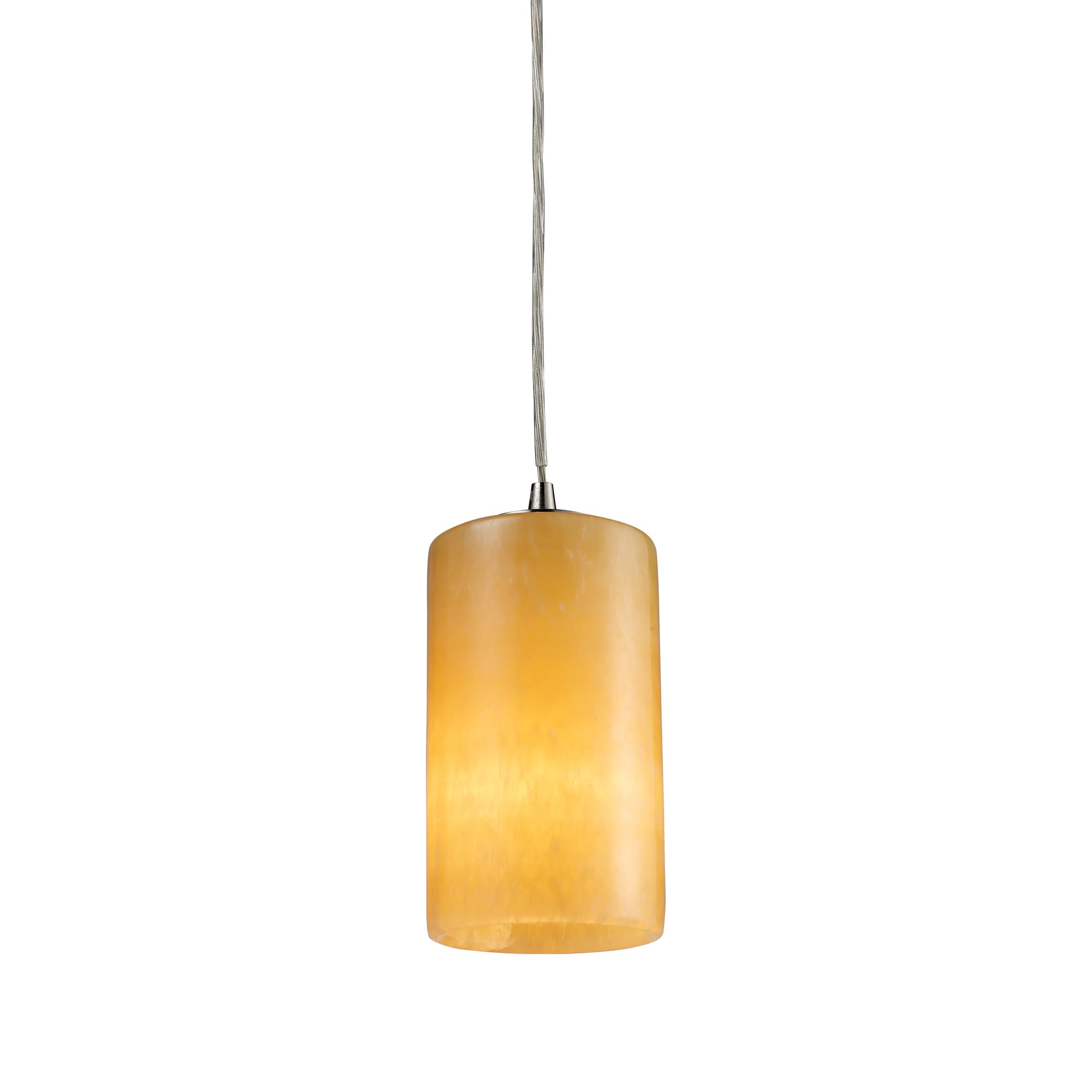 ELK LIGHTING Coletta Single-light Genuine Stone Satin Nic...