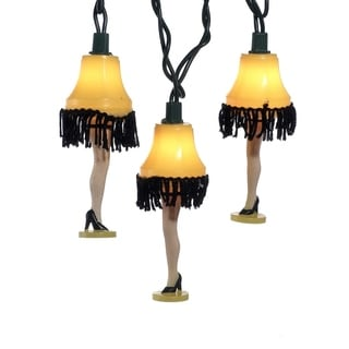 Kurt Adler UL 10-light Christmas Story Leg Lamp Light Set