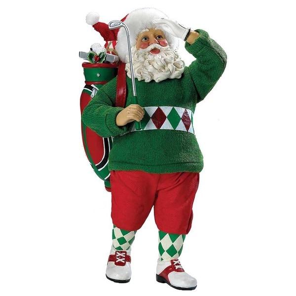 Kurt Adler 12-inch Fabriche Golf Santa